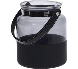 BOSTON Lanterne H. 17 cm Noir