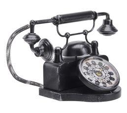 Horloge L.36 cm TELEPHONE Noir