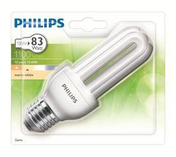 CFL stick 18W équiv 83W E27 Ampoule Blanc chaud