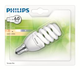 CFL 12W équiv 60W E14 Ampoule Blanc chaud
