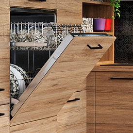 Lave vaisselle encastré imitation bois Cuisine Abacco