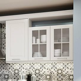 Meubles hauts vitrés authentique charme Cuisine Adele