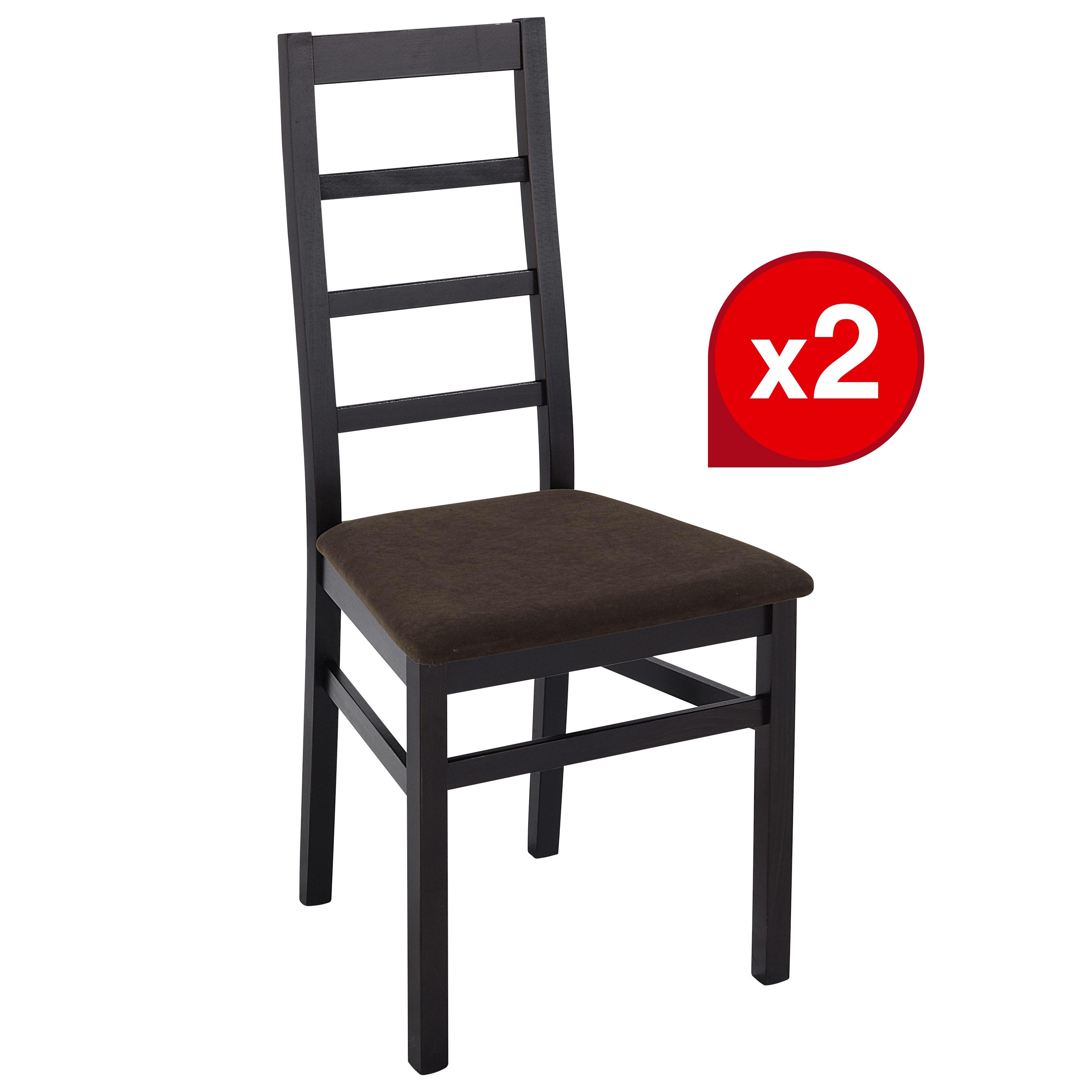 Lot de 2 chaises BAHIA Wengé