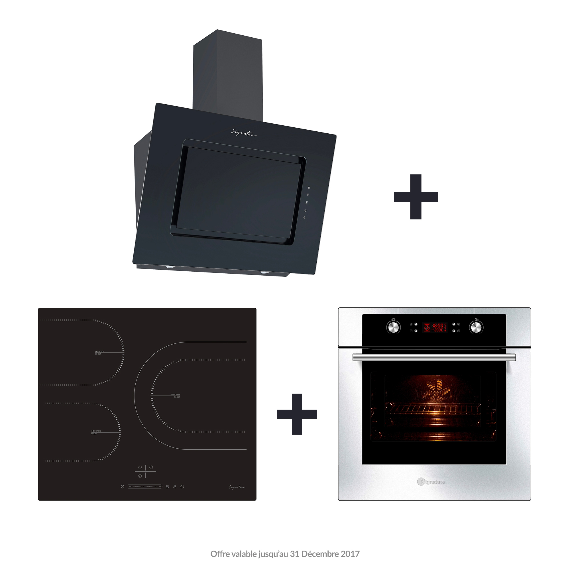 Offre Encastrable SIGNATURE : Hotte + Table induction + Four encastrable