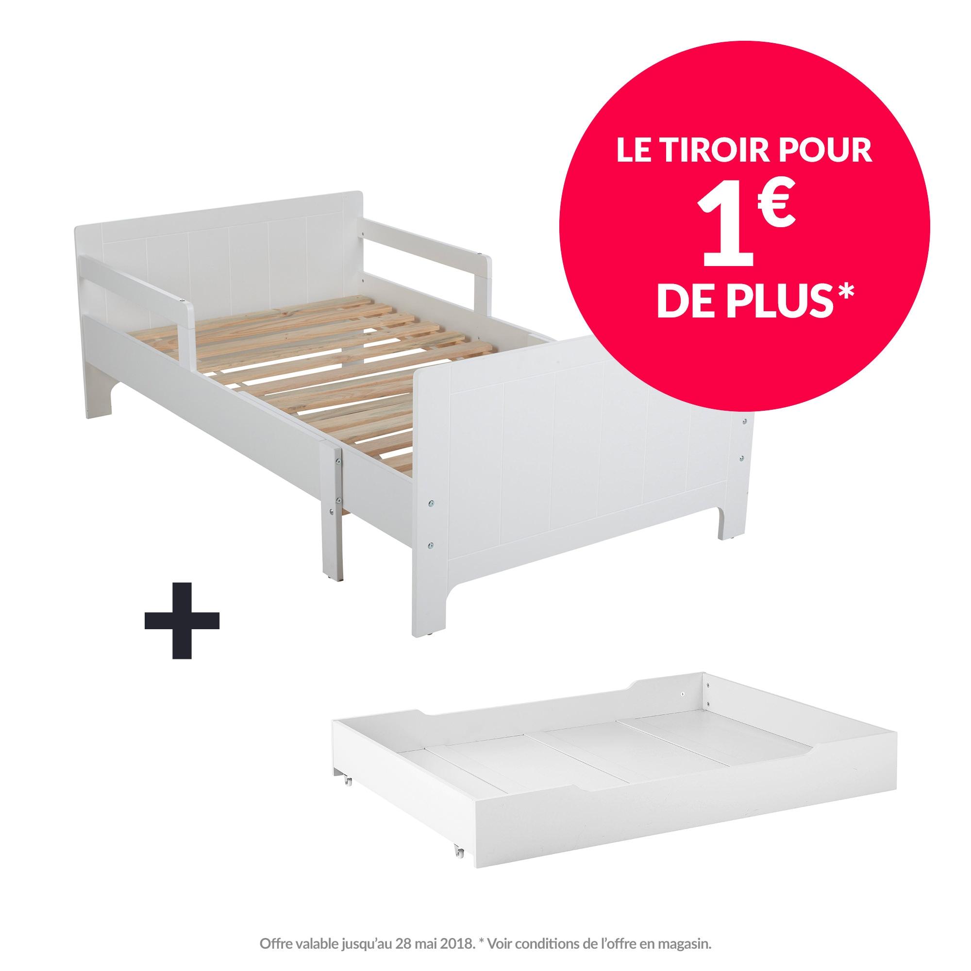Lit évolutif Léo + le tiroir pour 1€ de plus