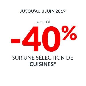 Jusqu'à -40% sur une sélection de cuisine