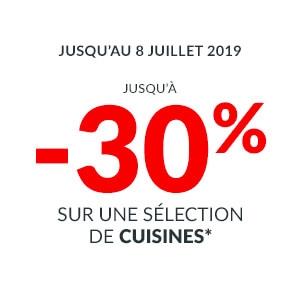Offre -30% sur une sélection de Cuisines