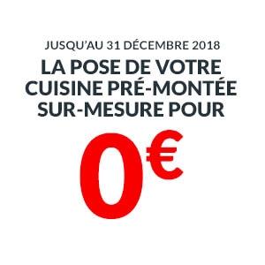 La pose de votre cuisine sur mesure pour 0€