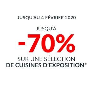 Jusqu'à -70% sur une sélection de Cuisines d'exposition