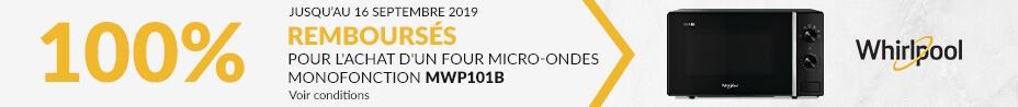 Offre Whirlpool 200€ remboursés