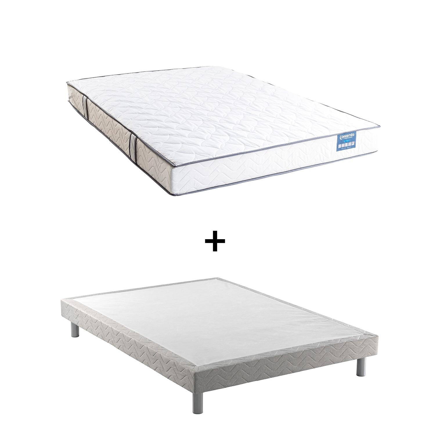 sommier d co gris strenan 90x190 cm sommiers but. Black Bedroom Furniture Sets. Home Design Ideas