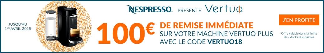 Offre Nespresso Vertuo