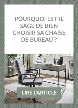 Pourquoi est-il sage de bien choisir sa chaise de bureau ?