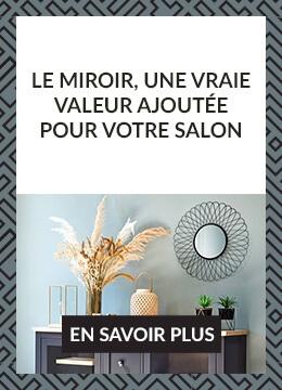 Le miroir, une vraie valeur ajoutée pour votre salon