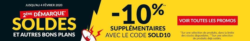 Soldes -10% supplémentaires avec le code SOLD10