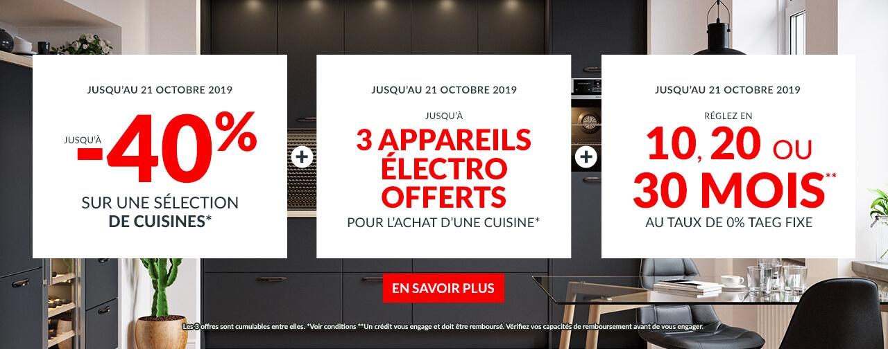 Offres Cuisines Promos Electros offerts et facilités de paiement