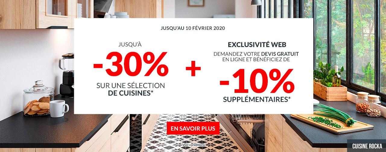 Cuisines: jusqu'à -30%
