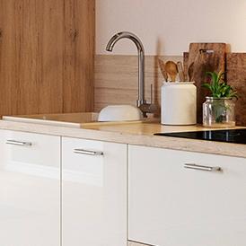 meuble cuisine bas blanc Lignea