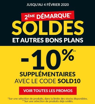 Soldes -10% supplémentaires avec le code SOLD10°