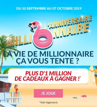 Jeu Anniversaire Millionnaire