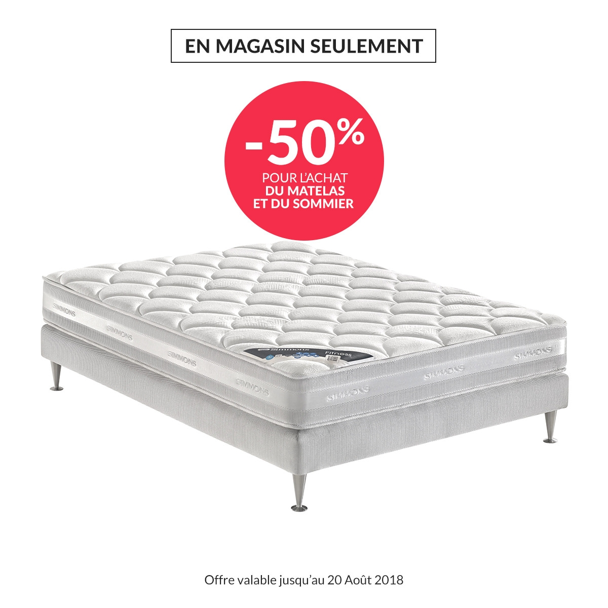 matelas 160 x 200 cm simmons fitness matelas but. Black Bedroom Furniture Sets. Home Design Ideas