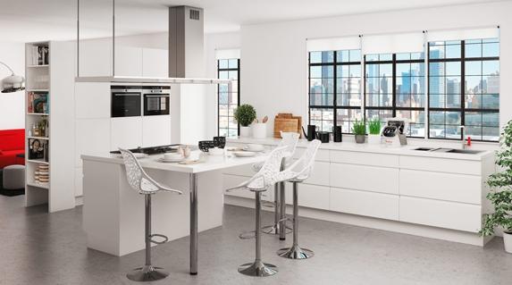 vous r vez d une cuisine am ricaine avec son lot central. Black Bedroom Furniture Sets. Home Design Ideas