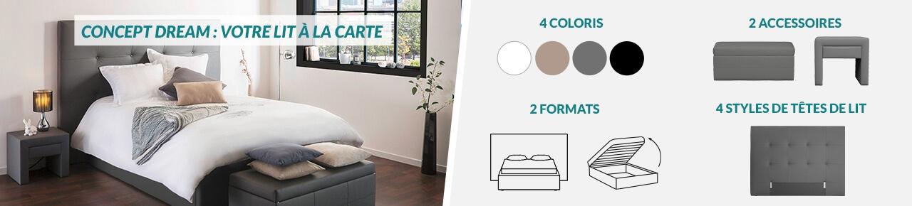 Concept DREAM - Créez votre lit à la carte