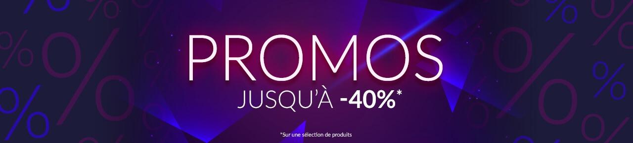 Promos jusqu'à -40%