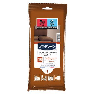 STARWAX  Lingette Soin du Cuir x18