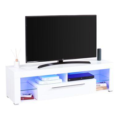 Meuble Tv Blanc Laque But