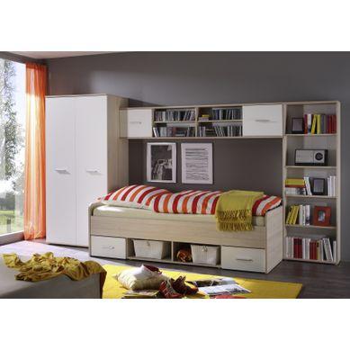 COMPLETO - 4 meubles  Imitation chêne et blanc