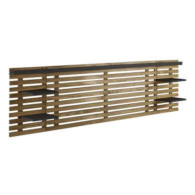 NIDRA bois et noir  Style industriel