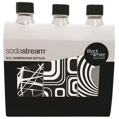 SODASTREAM  Pack 3 bouteilles Black&White