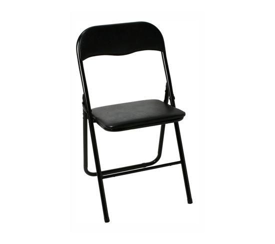 Chaise pliante EVAN Noire
