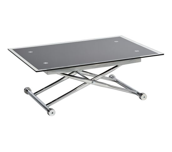 nouveau produit eca69 7707e Table basse relevable UP & DOWN 2 Verre et Chrome