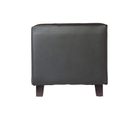 Pouf 35 x 35 cm CAPITONNE Noir