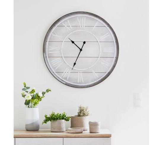 Horloge COTTAGE Naturel / blanc