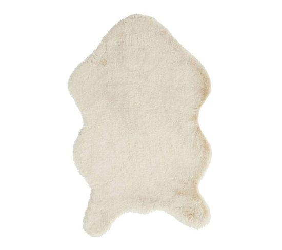 Tapis 60x90 cm FUNNY Imitation fourrure beige