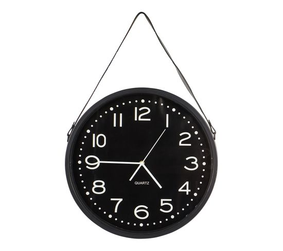 Horloge à suspendre ø 40 cm HANK Noir