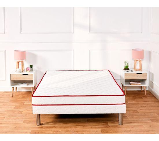 Sommier blanc 160x200 cm DREAMEA FERME