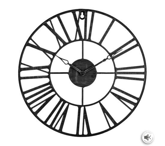 Horloge ø 36 cm STATION Noir