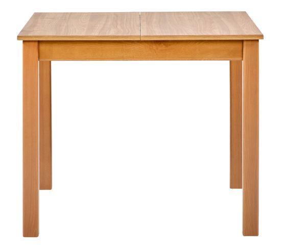 Table carrée + 2 allonges RUBEN Noyer clair