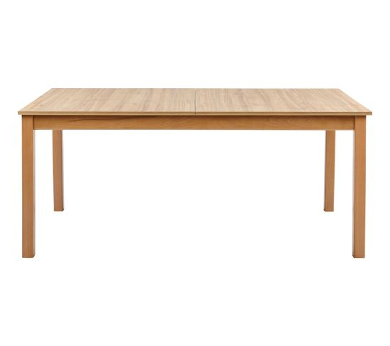 Table rectangle + 2 allonges RUBEN Noyer clair