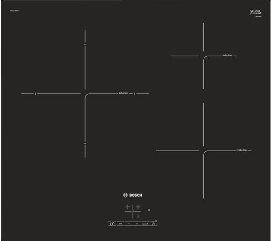 Table induction BOSCH PUJ611BB1E Noir