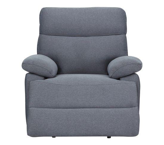 Fauteuil relax manuel JODIE tissu gris bleuté