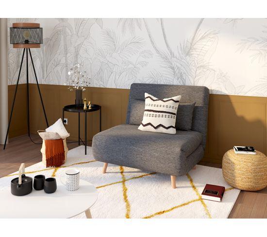 Fauteuil convertible IGLOO tissu gris