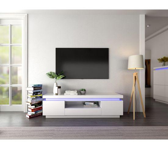 Meuble TV LED LUCIE Blanc