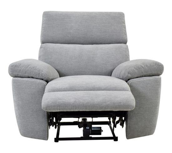 Fauteuil relax électrique ORION tissu gris clair