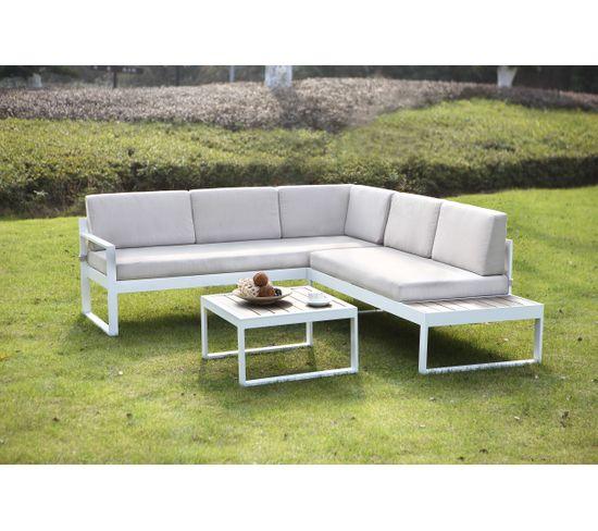 Canapé de jardin avec table COPACABANA Beige