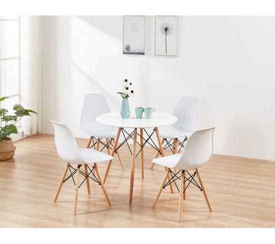 Table ronde scandinave HELIA Blanche
